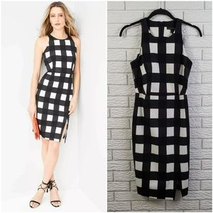 Banana Republic Gingham Sheath Dress 2 Plaid